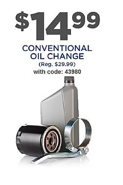 $14.99 oil change