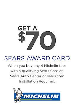 $70 Michelin Award Card