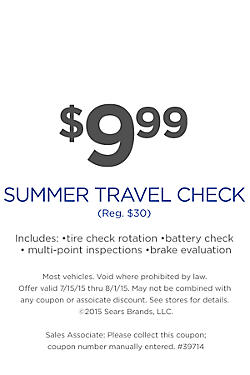 $9.99 Summer Travel Check