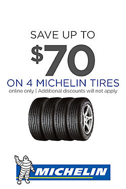 Save $70 on 4 Michelin