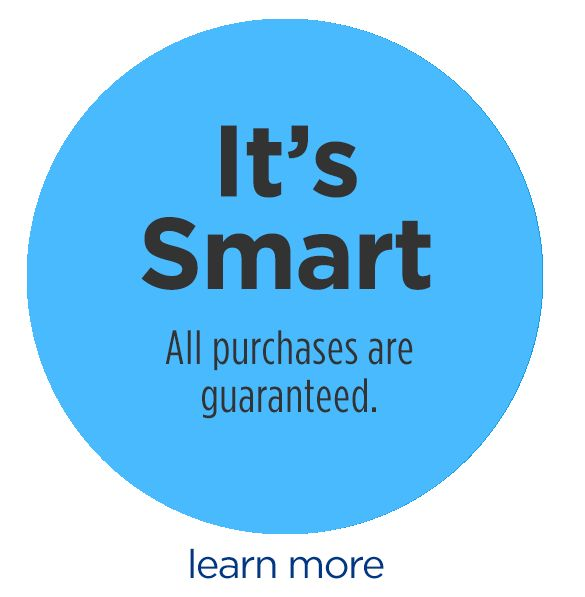 It's Smart. Protected by our Marketplace Guarantee. learn more.