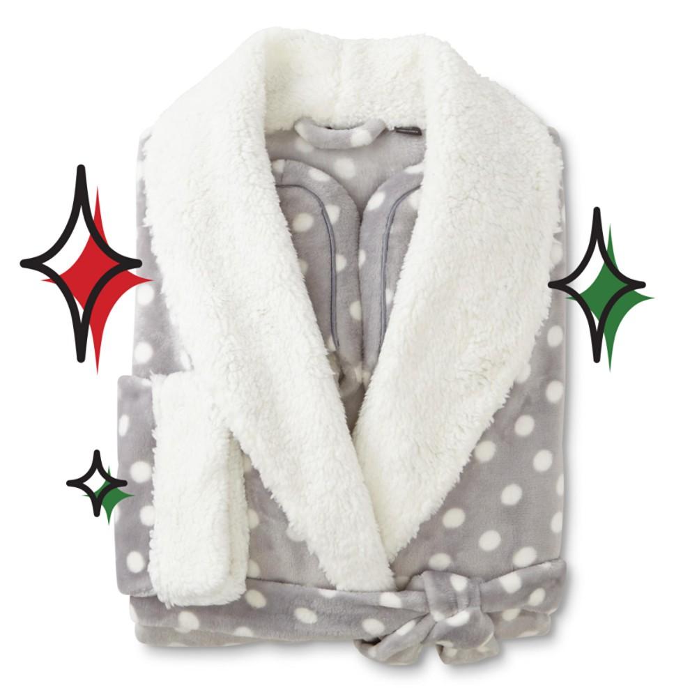 Covington Women's Short Robe & Slippers - Polka Dot