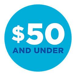 Menos de $50