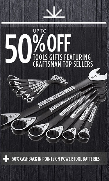 Up to 50% Off Tool Gifts | Plus 50% cashback in points on power tool batteries
