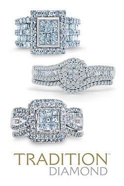 Trio Wedding Rings Sets
