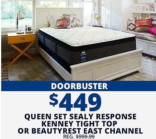 Doorbusters 449 Sealy Performance Response Kenney