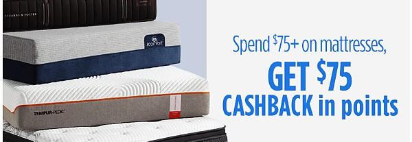 Spend $75+, Get $75 CASHBACK
