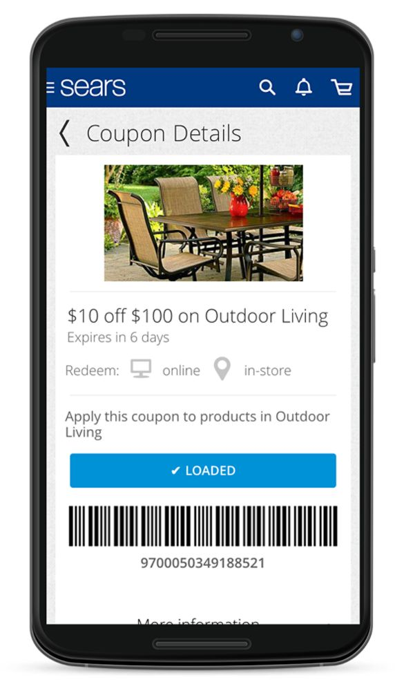 Sears mobile coupons