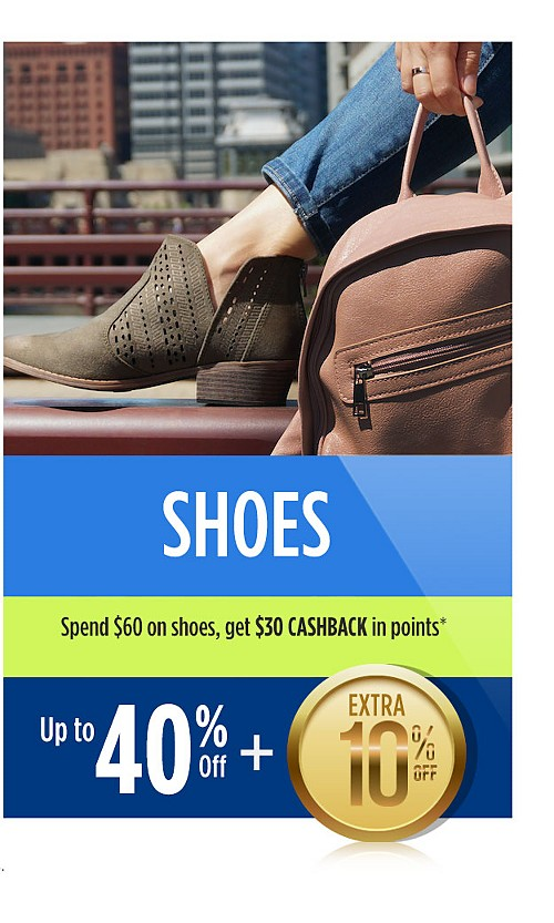 Up to 40% off shoes plus extra 10% off