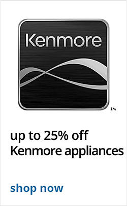 up to 25% off Kenmore Appliances