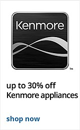 up to 30% off Kenmore Kitchen appliances