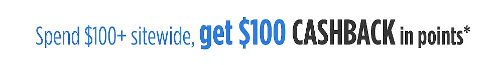 Speng $100+ Get $100 cashback in points