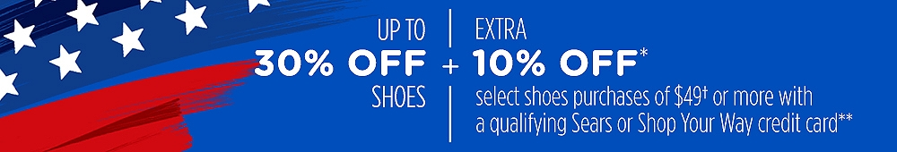 Up to 30% off shoes
