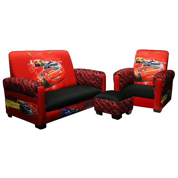 details about disney cars 2 kids furniture 3 pc couch chair