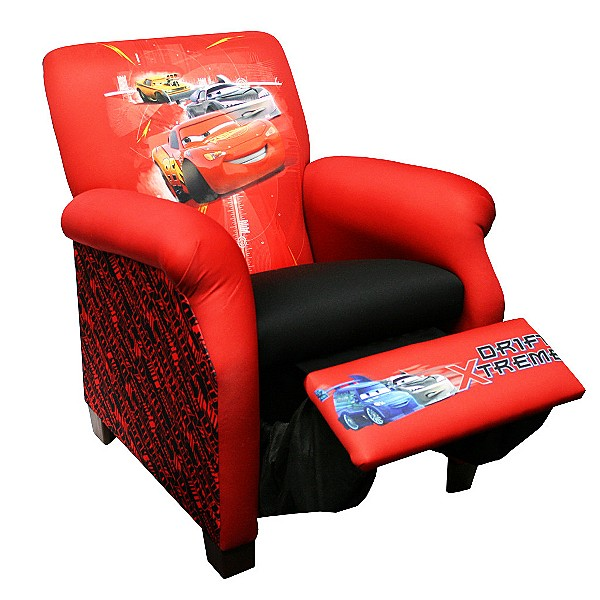 DISNEY CARS Childrens Kids Upholstered RECLINER Chair EBay