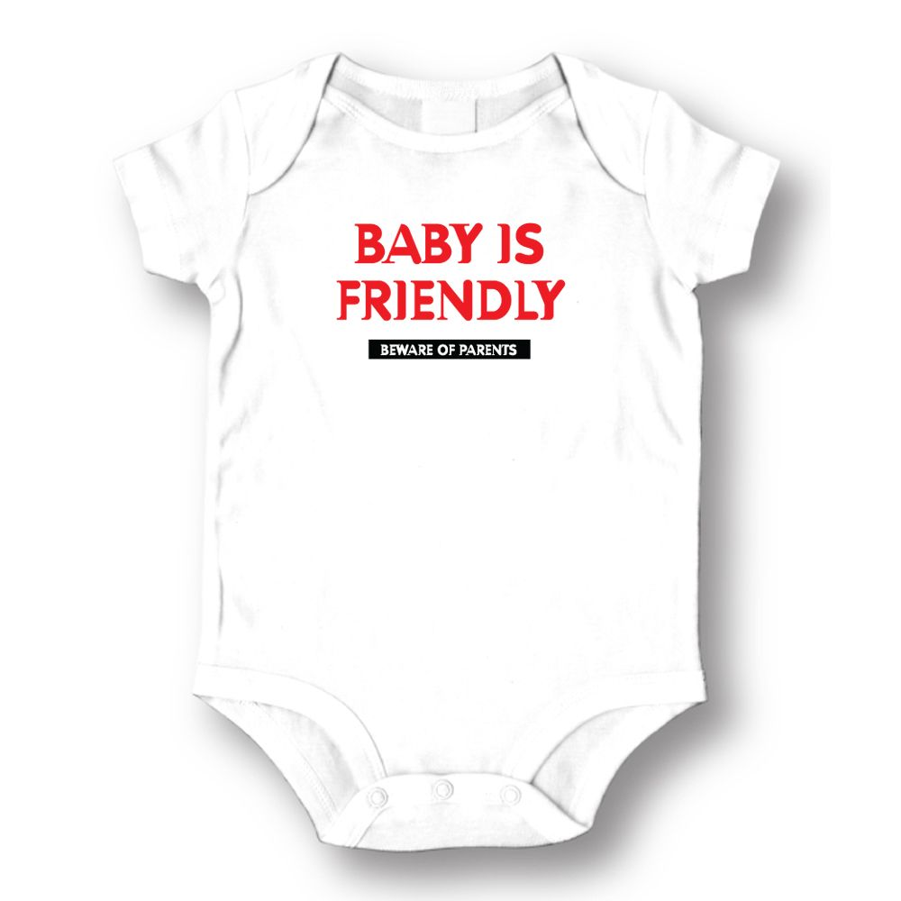 Attitude Rompers Unisex Baby Is Friendly Baby Romper