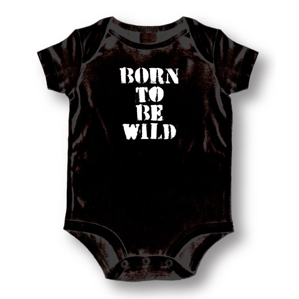 Attitude Rompers Unisex Born To Be Wild Baby Romper