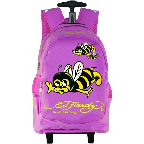 Ed Hardy Brad Bee Wheeled Backpack