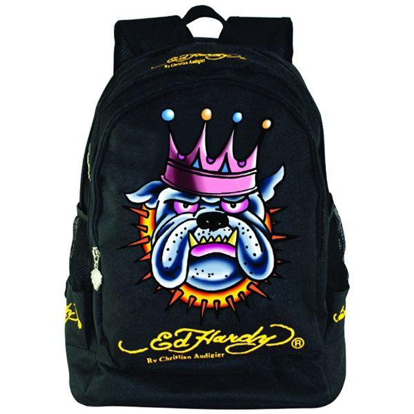 Ed Hardy Bruce Bulldog Crown Backpack