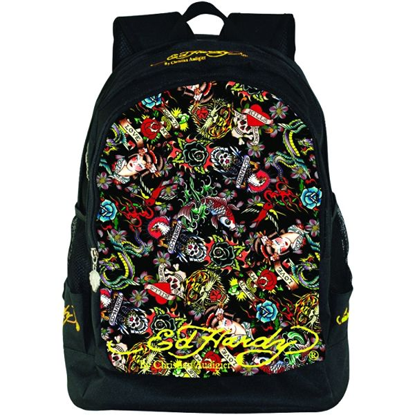 Ed Hardy Bruce Collage Backpack
