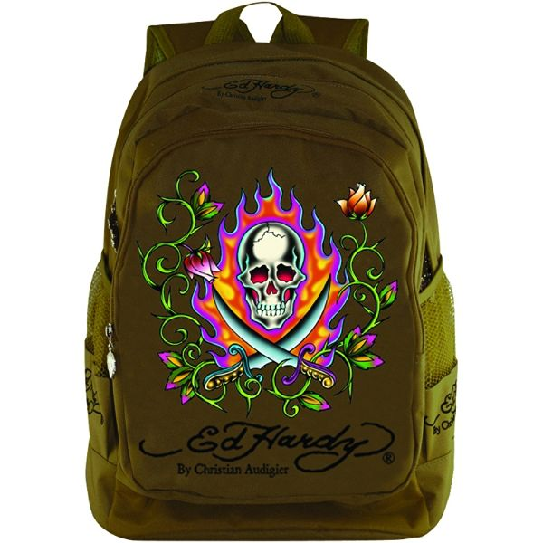 Ed Hardy Bruce Swords Backpack