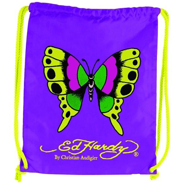 Ed Hardy Drew Butterfly V. Purple Drawstring