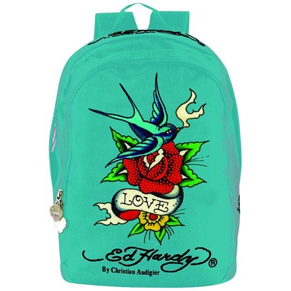Ed Hardy Josh Bird Flower Backpack