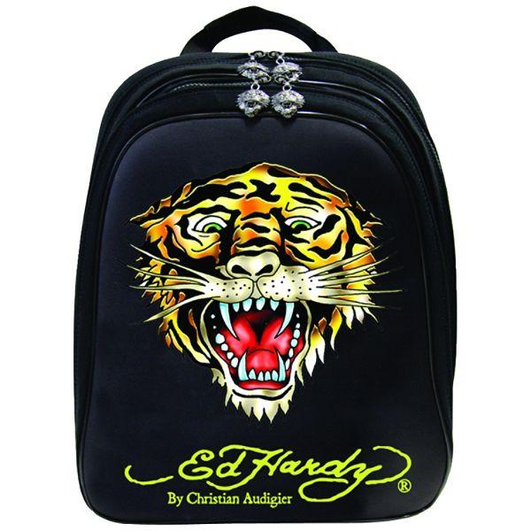 Ed Hardy Nina Tiger Notebook Backpack