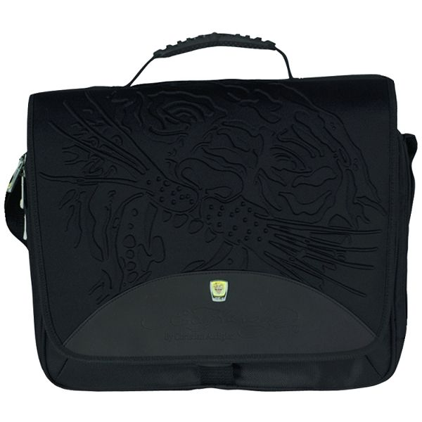 b26d15ec4e6c Ed Hardy Sammy Tiger Black Messenger Bag