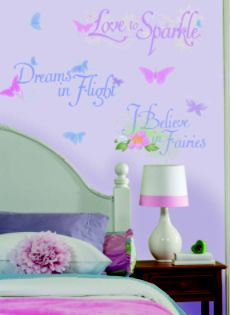 RoomMates  Disney Fairies Phrases Peel & Stick Wall Decals