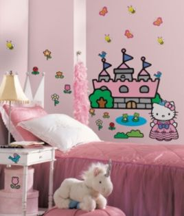 RoomMates Hello Kitty Princess Castle Peel & Stick Giant Wall Decals