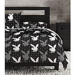 playboy microfiber queen comforter set bunny rain at