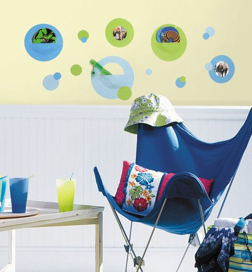 Wallpockets -Blue Peel & Stick Wall Decals