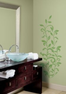 RoomMates  Leaf Scroll Peel & Stick Wall Decals