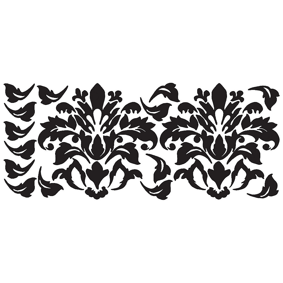Damask (Black) Peel & Stick Wall Decals  RoomMates Tools Painting