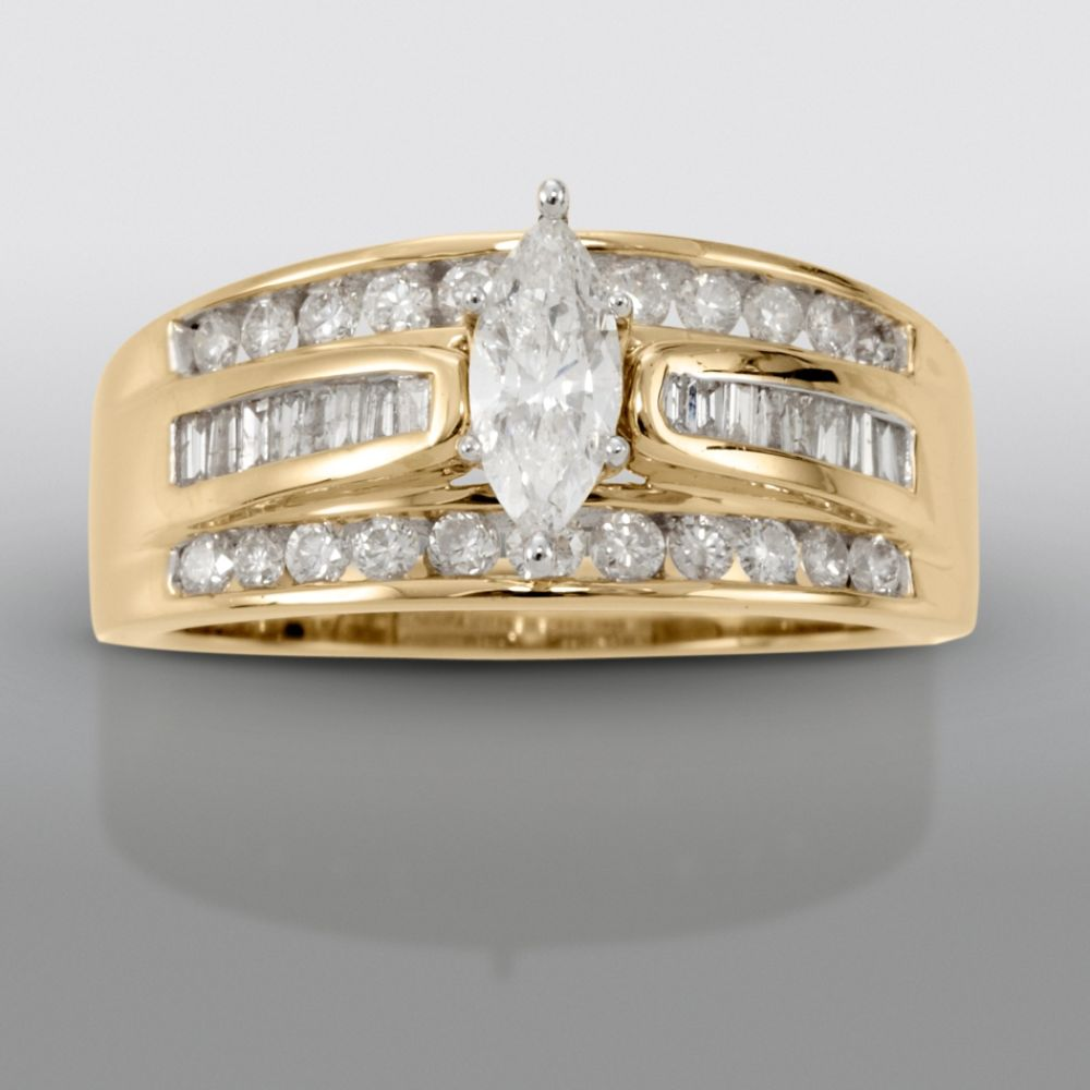 David Tutera 1 cttw Certified Diamond Engagement Ring 14k Yellow Gold