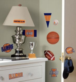 RoomMates  University of Illinois Peel & Stick Wall Decals