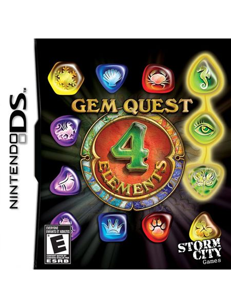 Storm City Games Gem Quest: 4 Elements for Nintendo DS