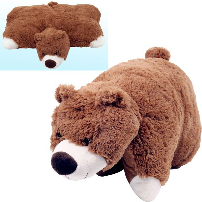 Trademark Large Size Cuddlee Pet Pillow - Brown Bear