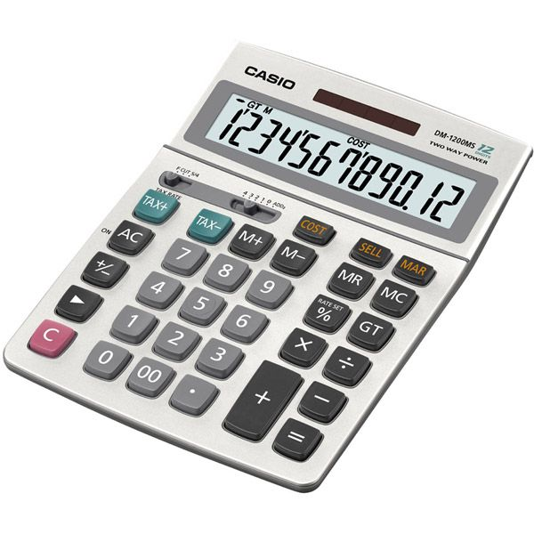 Casio Tax And Currency Exchange Calculator DM 1200MS S IH CASIO INC