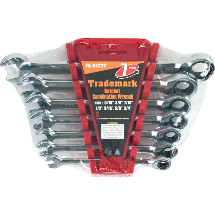 Ratchet Combination Wrenches SAE - Set of 7