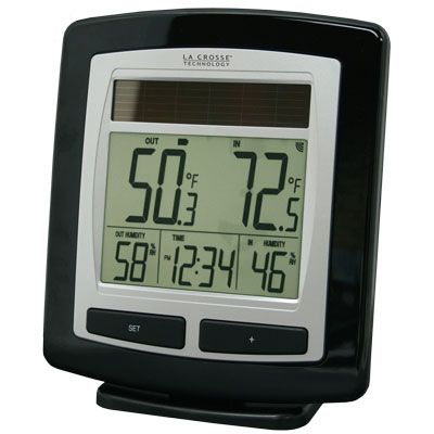 La Crosse Technology WS-6010U-IT Solar Powered Temperature Station with Solar Sensor