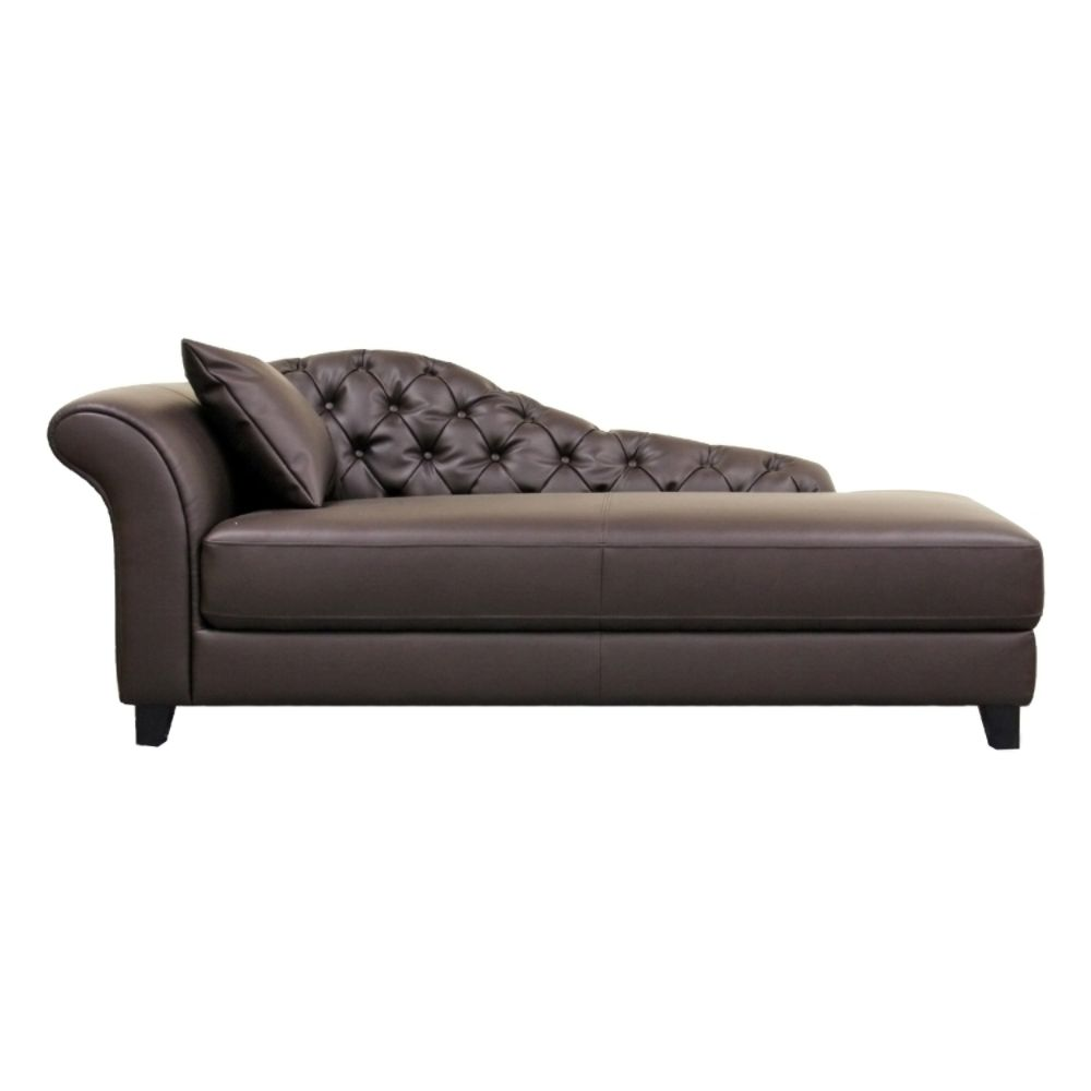 Diamond sofa metro leather chaise loungewayfair luxury for Black leather sofa chaise lounge