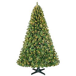 7 5ft Sherwood Pine Christmas Tree With Clear Lights