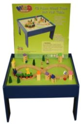Wood 45Pc. Train Table