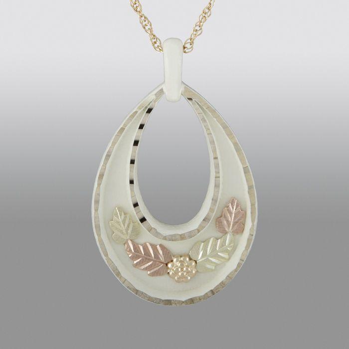 black hills gold pendant