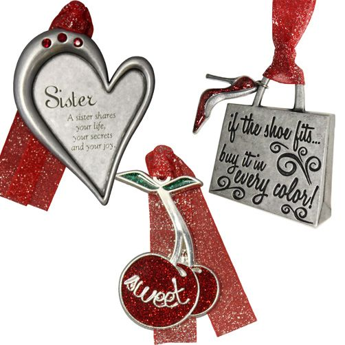 Gloria Duchin 3 Piece Sister Ornament Gift Set