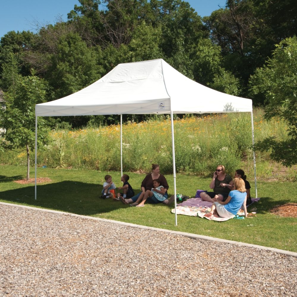 Shelter Logic 10x15 Truss Pro Pop-up Canopy White Cover