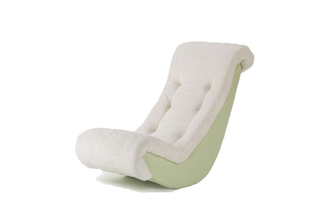 Hannah Baby Banana Rocker Lime Micro with Sherpa