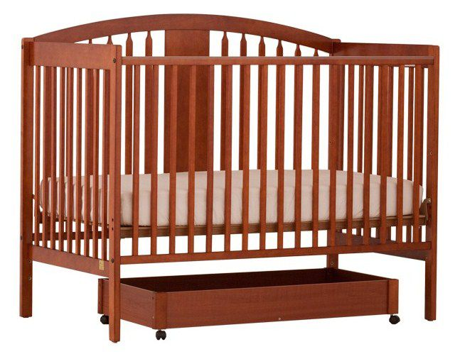 Stork Craft Hollie Fixed Side Convertible Crib - Cognac